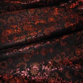Кожа Свиная Принт мелкие красные розы