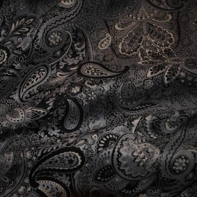 Кожа Свиная Принт серые крупные огурцы