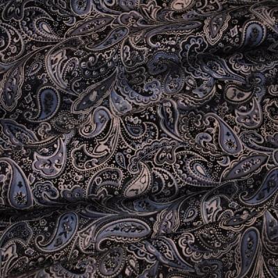 Кожа Свиная Принт серые мелкие огурцы