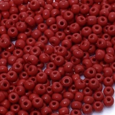 Бисер  непрозрачный красный