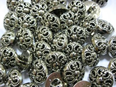 Пуговицы Серебреный цветок  уп. 25 шт.