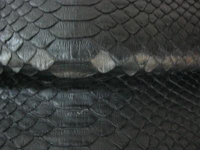Кожа Питон Натуральный черный
