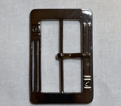 Пряжка 5см прямоугольная тёмный металл