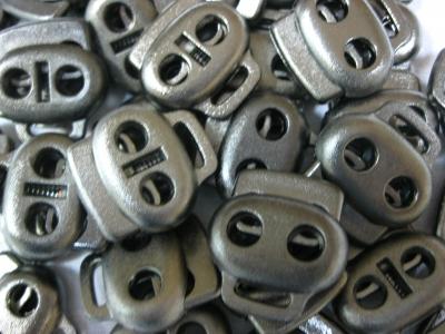 Карабин фиксатор для кулисок Серыйт металик в пачке 40 шт.