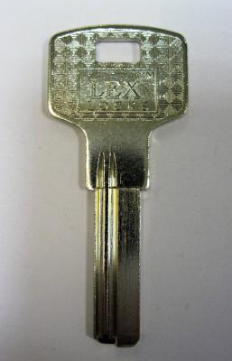 Заготовка для ключей 00508 LEX LOCKS 2 паза левые длинные, упор, вертикальная