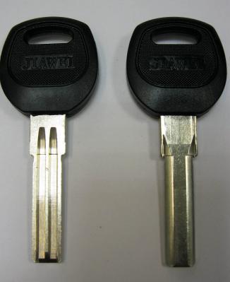 Заготовка для ключей 00658 SAN-2P (MASL1-jma) D-161 полукруг 2 паза 8*29,5 мм pan-pan пластик площадка вертикальная
