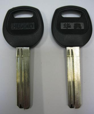 Заготовка для ключей 00603 KAIZER пластик кв. спец. 40 мм без упора 2 паза вертикальная
