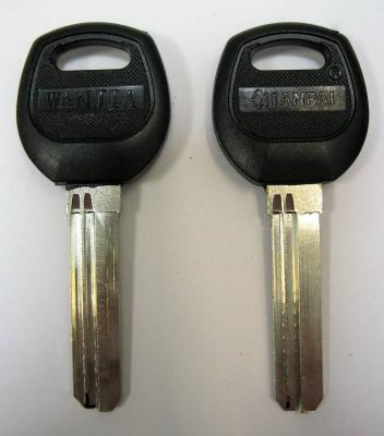 Заготовка для ключей 00602 JIA-2DP JIAWEI 2 паза пластик (BAODEAN 35 мм) вертикальная