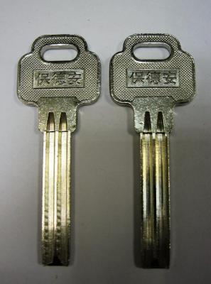 Заготовка для ключей 00638 BAODEAN BDA-1 полукруг проф. Э 2 паза (8,0*35) вертикальная