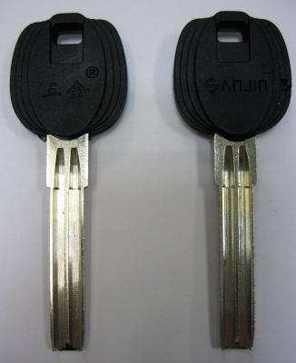Заготовка для ключей 00665 SANJIN полукруг 2 паза широкий длинный упор (38*7,93*2,85мм)
