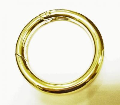 Карабин кольцо для сумок №18 d38 F мм золото