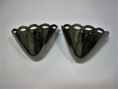 Носок для обуви металлический никель темный