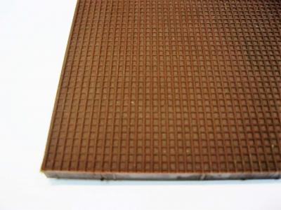 Пластина набоечная полиуретановая 23см*22,5см*0,5мм жесткая коричневая