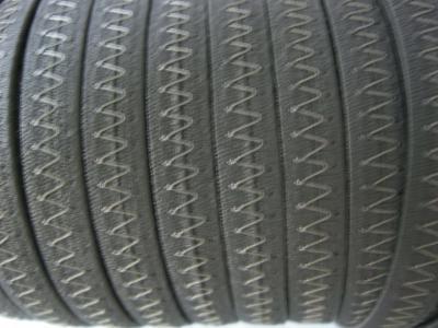 Резинка босоножная в кожаной оплетке 8 мм серая Италия