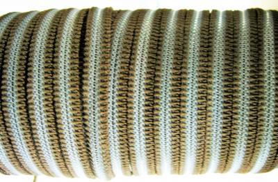 Резинка для пряжек 6 мм коричневая с полосой полиэстер
