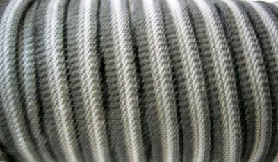 Резинка для пряжек 6 мм чёрная с полосой полиэстер