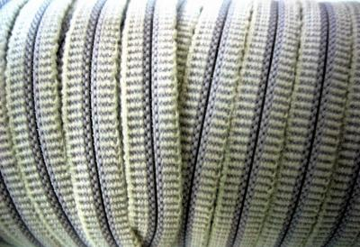Резинка для пряжек 8 мм белая полиэстер