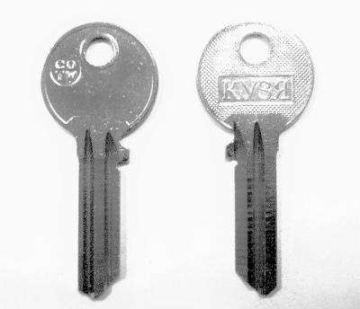 Заготовка для ключа Кузя COTW (COR-1D) английская 2 паза