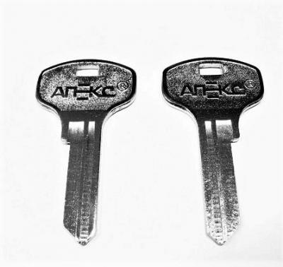 Заготовка для ключа АПЕКС-AD4 английская