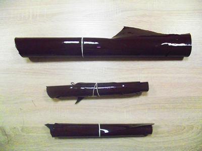 Кожа КРС (обрезки) лаковая коричневая