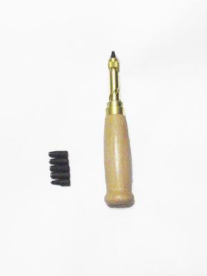 Пробойник с насадками круглый с деревянной ручкой 1,5*2,5*3*3,5*4 мм