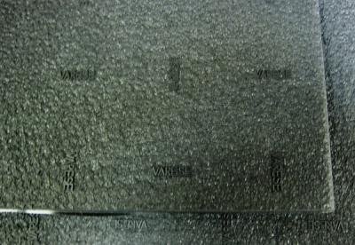 (3792)пластина набоечная SUPER (надпись Varese) 6.5мм 720x300 черный