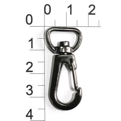 карабин серебро 3 см. для ключей и ключниц