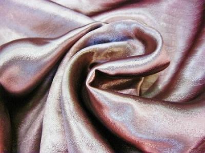 Портьерная ткань Блэкаут цвет бордово-коричневый рисунок волна-песок