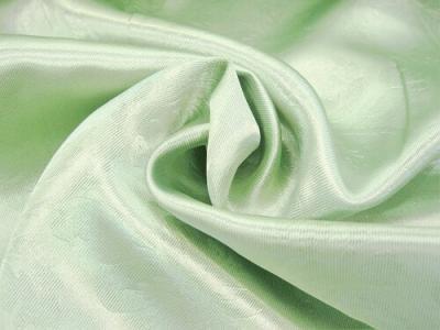 Портьерная ткань Блэкаут цвет зеленый рисунок цветы