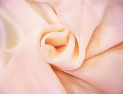 Ткань Вуаль Тюль цвет желто-персиковый
