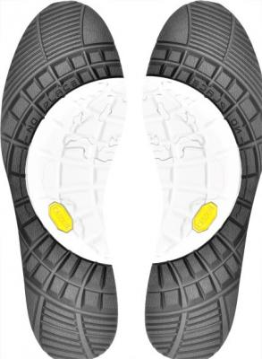 Подошва для обуви RB112 бело черный 330*110*5